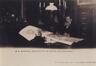 Paleizenstraat over de Bruggen 458-462, voormalig gemeentehuis, burgemeester Émile Bockstael in zijn bureau omstreeks 1900© SAB/IF C-15597