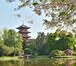 Vue sur le parc, avec la Tour Japonaise, 2020