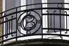 Avenue Prudent Bols 75, détail du garde-corps de la terrasse, 2017