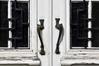 Avenue Richard Neybergh 47, détail de la porte, 2017