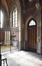 Place Saint-Lambert 38, église Saint-Lambert, entrée latérale gauche et grille du baptistère© ARCHistory / APEB, 2018
