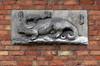 Rue du Siphon 34, bas-relief au premier étage© ARCHistory / APEB, 2018
