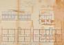 Rue Stéphanie 87-87a, projet d'agrandissement de la caserne, AVB/TP Laeken 4172 (1889)