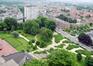 Cité Modèle, vue de l'escalier-jardin de Gilles Clément depuis l'immeuble-tour 3© (© ARCHistory / APEB, 2018)