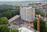 Cité Modèle, vue de la chaufferie et du bloc 5 restauré© (© ARCHistory / APEB, 2018)