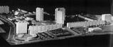 Maquette de la Cité Modèle, vue vers le nord-ouest© La Maison, 8, 1960, p. 247