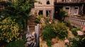 Avenue Eugène Plasky 38, vue du jardinet avant transformation de l'escalier© ACS/Urb. 88-38 (1991)