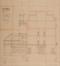 Place de Jamblinne de Meux 14, futur Institut de la Vierge Fidèle, corps de bâtiment et chapelle, coupe et élévation latérale© ACS/Urb. 64-14 (1897)
