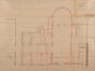 Place de Jamblinne de Meux 14 et 13a, futur Institut de la Vierge Fidèle, corps de bâtiment, chapelle et conciergerie, plan des rez-de-chaussée© ACS/Urb. 64-14 (1897)
