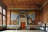 Avenue de Roodebeek 103, École no 13, préau couvert, composition sur toile marouflée par Maurice Langaskens, 2011