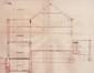 Rue des Ailes 71, coupe longitudinale originelle© (GOSLAR, M., Victor Horta. 1861-1947. L'homme – l'architecte – l'Art nouveau, Fondation Pierre Lahaut – Fonds Mercator, Anvers, 2012, p. 122)