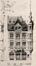Place Colignon 2 - rue Royale Sainte-Marie 200, élévation vers la place, (VAN MASSENHOVE, H., LOW, G., Les Maisons Modernes, Livraison II, éditeur Constant Baune, Bruxelles, 1901, pl. X)