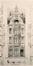Place Colignon 6, élévation© (VAN MASSENHOVE, H., LOW, G., Les Maisons Modernes, Livraison II, éditeur Constant Baune, Bruxelles, 1901, pl. V)