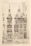 Place Colignon 12, élévation et plan du rez-de-chaussée, (VAN MASSENHOVE, H., LOW, G., Les Maisons Modernes, Livraison II, éditeur Constant Baune, Bruxelles, 1901, pl. XXXVIII)