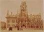 Place Colignon, hôtel communal de Schaerbeek, façade principale après l'incendie de 1911© (Maison des Arts de Schaerbeek/fonds local)