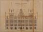 Place Colignon, hôtel communal de Schaerbeek, élévation de la façade postérieure, vers 1912© ACS/TP Hôtel communal