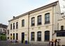 Rue Gallait 131, école communale no2, bâtiment intermédiaire, façade vers la cour de l'école de la rue Quinaux, 2014