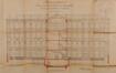 Rue Général Eenens 66, Institut Frans Fischer, élévation vers les cours et coupe du préau, ACS/TP École Frans Fischer (1916)