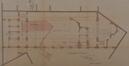 Rue Goossens 17, salle des fêtes du Patronage Saint-Servais, plan terrier et coupe transversale partielle, ACS/Urb. 122-17-21 (1894)