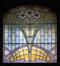 Avenue Maréchal Foch 7, vitrail de la baie d'imposte de la porte© (Fonds APEB, 2005)