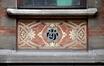 Avenue Maréchal Foch 9, sgraffite intégrant le monogramme de l'architecte, 2013