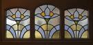 Rue Renkin 90-92, vitrail d'imposte de la fenêtre de la cage d'escalier, 2014