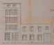 Rue Vanderlinden 24 et 20-22, élévations avant transformation en 1973© ACS/Urb. 259-20-22-24 (1973)