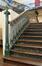 Rue Verwée 12, Athénée royal Alfred Verwée, grand préau, détail de l'escalier, 2014