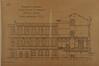 Rue Verwée 12, École moyenne de filles, élévation du bâtiment du vestibule et coupe du bâtiment d'entrée© ACS/TP École moyenne pour filles rue Verwée (1901)