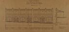 Chaussée de Haecht 353-357, École moyenne de filles, galerie couverte du jardin d'enfants, élévation vers la chaussée© ACS/TP École moyenne pour filles rue Verwée (1901)