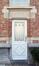 Rue Gaucheret 124a et place Gaucheret 1-1a, École communale no8, corps à rue, façade à rue, ancienne porte du concierge, 2016