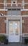 Rue Gaucheret 124a et place Gaucheret 1-1a, École communale no8, corps à rue, façade à rue, ancienne entrée des filles, 2016