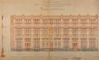 Rue Gaucheret 124a et place Gaucheret 1-1a, École communale no8, bâtiment à rue, élévation à rue, ACS/TP Écoles 4 et 8 (1910)