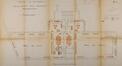 Rue Gaucheret 124a et place Gaucheret 1-1a, École communale no8, projet de mobilier pour le rez-de-chaussée du bâtiment à rue, ACS/TP Écoles 4 et 8 (1913)
