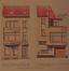 Rue des Palais 11 - rue de la Poste 121, élévations avant et arrière© ACS/Urb. 204-11 (1929)