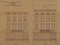 Rue des Palais 14, élévations avant et après transformation, ACS/Urb. 204-14 (1912)