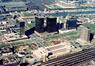 Vue aérienne du quartier Nord en 1982 avec, à l'avant-plan, la gare du Nord, (©Min.TP, n° 129194, Régie des Bâtiments)