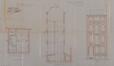 Rue Vandeweyer 129, plan du rez-de-chaussée, coupe et élévation© ACS/Urb. 261-125-127-129 (1901)