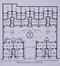 Rue L'Olivier 16-20 à 40-44, plan des rez-de-chaussée© (Le Foyer Schaerbeekois. Société Anonyme pour la Construction d'Habitations ouvrières. Historique, 2e édition, Imprimerie V.Gielen, Schaerbeek, 1913, p. 32)