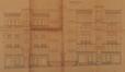 Rue L'Olivier 40-44 et 16-20, élévations à rue© ACS/Urb. 174-16-44 (1903)