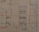Rue de la Ruche 5, 7 ou 9, coupe, élévation et plan du rez-de-chaussée© ACS/Urb. 239-9 (1893)