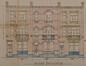 Rue Van Hoorde 16 à 20, élévations© ACS/Urb. 266-16-18-20 (1922)