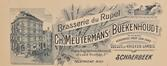 En-tête de lettre de la Brasserie du Rupel, figurant les no8-8b place Eugène Verboeckhoven - 2 rue d'Anethan et 4 rue d'Anethan, ACS/Urb. 63-2 (1929)