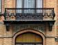 Rue Frans Binjé 3, décor de carreaux figurant des glycines, 2012