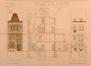 Rue Artan 44, élévation à rue, coupe, élévation arrière© ACS/Urb. 16-44 (1911)