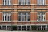 Grande rue au Bois 57-59, école primaire n° 10, détail de la façade, 2012