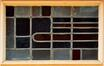 Rue Monrose 37, vitrail de la porte d'entrée, 2012