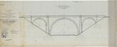 Avenue Arnaud Fraiteur, pont enjambant le chemin de fer, élévation générale (1899)© Archives Infrabel – Bureau de dessin – Ouvrages d'art