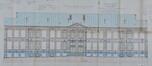 Rue Élise 100, bâtiment principal, élévation © ACI/TP farde 170, feuille n°5 (1903).