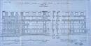 Complexe d'immeubles de logements sociaux, élévation à front de la rue Léopold Delbove© ACI/Urb. 253-2 à 20 (1935); 136-2 à 24 (1932).